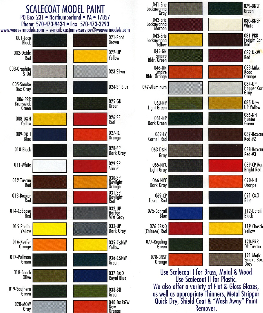 rustoleum paint color chartLarge Scale Central  Advanced Forum Detail Topic  Not all